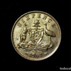 Monedas antiguas de Oceanía: 6 PENCE 1963 AUSTRALIA PLATA ELIZABETH II (A1). Lote 183370221
