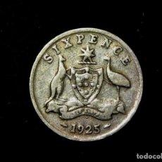 Monedas antiguas de Oceanía: 6 PENCE 1925 AUSTRALIA PLATA DE LEY JORGE V (A1). Lote 183374350