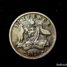 Monedas antiguas de Oceanía: 6 PENCE 1925 AUSTRALIA PLATA DE LEY JORGE V (A2). Lote 183374547