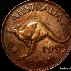 Monedas antiguas de Oceanía: 1 PENNY 1 PENIQUE 1952 CECA PERTH AUSTRALIA JORGE VI (A2). Lote 183375522