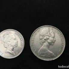 Monedas antiguas de Oceanía: DOS MONEDAS AUSTRALIA, 5 Y 10 CENTAVOS, 1993 Y 1977. Lote 183422673