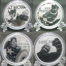 Monedas antiguas de Oceanía: TUVALU - SERIE MARVEL - COMPLETA. Lote 183425197