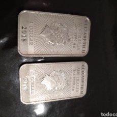 Monedas antiguas de Oceanía: LOTE DE 2 MONEDAS 1 ONZA 2018 DRAGÓN AUSTRALIA. Lote 183507935