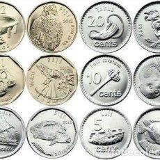 Monedas antiguas de Oceanía: FIJI SERIE 5 10 20 50 CENTS 1 2 $ 2012 FIYI UNC. Lote 195153788