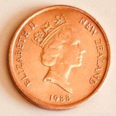 Monedas antiguas de Oceanía: ONE CENT NEW ZEALAND COMMONWEALTH BRITÁNICA 1988. Lote 175776765