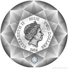 Monedas antiguas de Oceanía: NIUE 2016 MONEDA DIAMANTE 3D CERTIFICADO. Lote 184662423