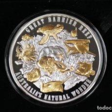 Monedas antiguas de Oceanía: NIUE 2018 5 OZ PLATA CON BAÑO DE ORO BARRERA DE CORAL. Lote 184689747