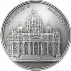Monedas antiguas de Oceanía: BENIN 2017 100 GR PLATA 1500 FRANCS SAINT PETER 'S BASILICA. Lote 184888276
