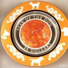 Monedas antiguas de Oceanía: ISLAS SALOMON 2018 5 OZ PLATA NACAR INCRUSTADO. Lote 184892240