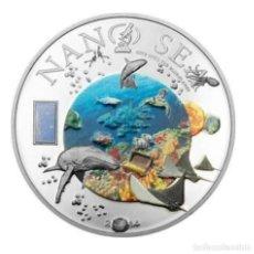 Monedas antiguas de Oceanía: ISLAS COOK 2014 50 GR PLATA NANO SEA. Lote 184890407