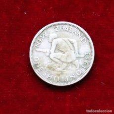 Monedas antiguas de Oceanía: CHELIN 1933 PLATA NUEVA ZELANDA. Lote 187474287