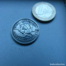 Monedas antiguas de Oceanía: MONEDA DE PLATA DE UN CHELÍN DE NUEVA ZELANDA AÑO 1933. Lote 189195328