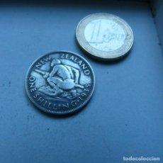 Monedas antiguas de Oceanía: MONEDA DE PLATA DE UN CHELÍN DE NUEVA ZELANDA AÑO 1935. Lote 189195506