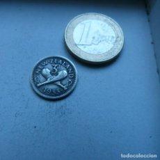 Monedas antiguas de Oceanía: MONEDA DE PLATA DE 3 PENIQUES DE NUEVA ZELANDA AÑO 1933. Lote 189197560