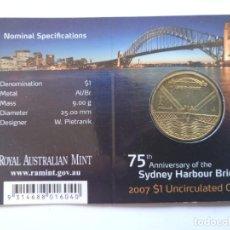 Monedas antiguas de Oceanía: AUSTRALIA. 1 DOLAR 2007. S/C. SIDNEY HARBOUR BRIDGE.. Lote 190298097