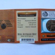 Monedas antiguas de Oceanía: AUSTRALIA. 1 DOLAR 2006. S/C. 50 AÑOS DE LA TELEVISION AUSTRALIANA. MINT CAMBERRA. Lote 190298391