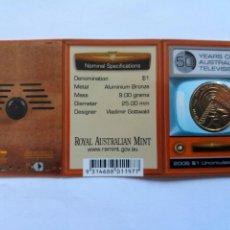 Monedas antiguas de Oceanía: AUSTRALIA. 1 DOLAR 2006. S/C. 50 AÑOS DE LA TELEVISION AUSTRALIANA. MINT MELBOURNE. Lote 190298475