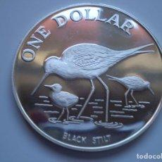 Monedas antiguas de Oceanía: 1 DOLAR 1985 NUEVA ZELANDA ISABEL II - CIGÚEÑA NEGRA 27,5GR PLATA (AG 925) SC . Lote 190779887