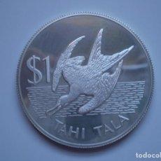Monedas antiguas de Oceanía: 1 TAHI TALA 1981 TOKELAU. ELIZABETH II. FRIGATE BIRD PLATA 27,45GR (AG 925) SC PROOF. Lote 190780252