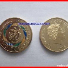 Monete antiche di Oceania: ISLAS SALOMON SOLOMON 2 DÓLARES 2018 COLOREADA CONMEMORATIVA INDEPEDENCIA - SC. Lote 193298253