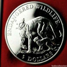 Monedas antiguas de Oceanía: FDC. COOK 5 DOLLARS 1991. Lote 195054525