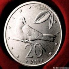 Monedas antiguas de Oceanía: MUY ESCASA S/C. COOK 20 CENTS 2010. Lote 195055110