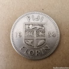 Monedas antiguas de Oceanía: FIJI. 1 FLORIN. PLATA. 1934. Lote 195164885