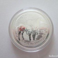 Monedas antiguas de Oceanía: AUSTRALIA * 2 DOLARES 2014 * HORSE * 2 ONZAS DE PLATA. Lote 195242813