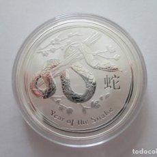 Monedas antiguas de Oceanía: AUSTRALIA * 2 DOLARES 2013 * SNAKE * 2 ONZAS DE PLATA. Lote 195242973