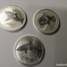 Monedas antiguas de Oceanía: AUSTRALIA TIBURÓN - COLECCIÓN COMPLETA - SHARK - PLATA 9999 - VER FOTOGRAFÍAS EN LA DESCRIPCIÓN.. Lote 196357237