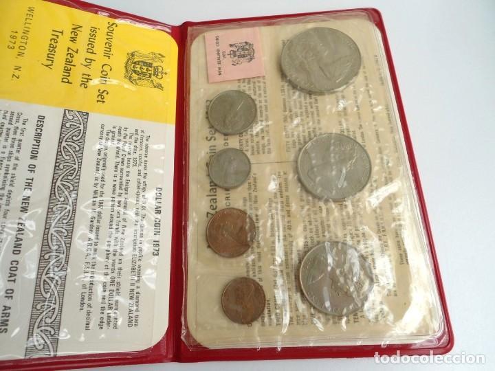 NUEVA ZELANDA - CARTERA OFICIAL SOUVENIR COIN SET - AÑO 1973 - SIN CIRCULAR (Numismática - Extranjeras - Oceanía)