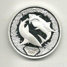 Monedas antiguas de Oceanía: 5 DÓLARES DE AUSTRALIA DE 2000 SERIE OLIMPIADAS SYDNEY 2000 TIBURÓN BLANCO. ONZA DE PLATA PURA. Lote 198659581