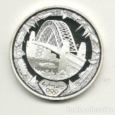 Monedas antiguas de Oceanía: 5 DÓLARES DE AUSTRALIA DE 2000 SERIE OLIMPIADAS SYDNEY 2000 HARBOUR BRIDGE. ONZA DE PLATA PURA. Lote 198660635