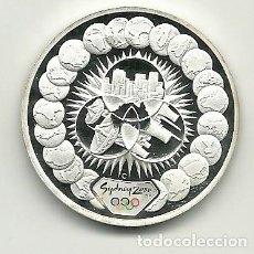 Monedas antiguas de Oceanía: 5 DÓLARES DE AUSTRALIA DE 2000 SERIE OLIMPIADAS SYDNEY 2000. ONZA DE PLATA PURA. Lote 198660916