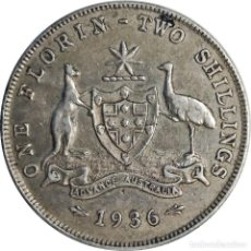 Monedas antiguas de Oceanía: AUSTRALIA. 1 FLORIN (2 CHELINES) 1936 (GEORGIUS V). (084). Lote 199212828