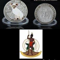 Monedas antiguas de Oceanía: VANUATU 5 VATU 2015 MEDALLA TIPO MONEDA PLATA ( ABORIGEN Y GATO SIAMES ) - PESO 33 GRAMOS - Nº2. Lote 199256803