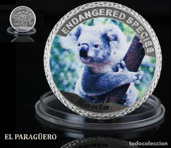 AUTRALIA 100 DOLARES MEDALLA TIPO MONEDA PLATA ( KOALA AUSTRALIANO ) - PESO 35 GRAMOS - Nº4 (Numismática - Extranjeras - Oceanía)