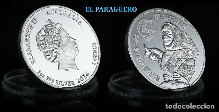 AUTRALIA MEDALLA TIPO MONEDA PLATA ( ZOO NOVOSIBIRSK HOMENAJE AL ORANGUTAN ) - PESO 32 GRAMOS - Nº1 (Numismática - Extranjeras - Oceanía)