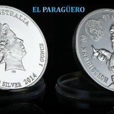 Monedas antiguas de Oceanía: AUTRALIA MEDALLA TIPO MONEDA PLATA ( ZOO NOVOSIBIRSK HOMENAJE AL ORANGUTAN ) - PESO 32 GRAMOS - Nº1. Lote 199433731