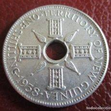 Monedas antiguas de Oceanía: PAPUA , NUEVA GUINEA , 1 SHILLING 1938 , PLATA.. Lote 199495518