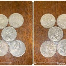 Monedas antiguas de Oceanía: LOTE DE 5 MONEDAS DE AUSTRALIA. ELIZABETH II. 20 CTS. AÑOS: 1967, 1977, 1978, 1981. VER.. Lote 200197021