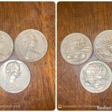 Monedas antiguas de Oceanía: LOTE DE 3 MONEDAS DE AUSTRALIA. ELIZABETH II. 20 CTS. AÑOS: 1966, 1975, 1981. VER FOTOS. Lote 200197241