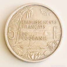 Monedas antiguas de Oceanía: 5 FRANCOS POLINESIA FRANCESA DE ULTRAMAR 1952. Lote 202614188