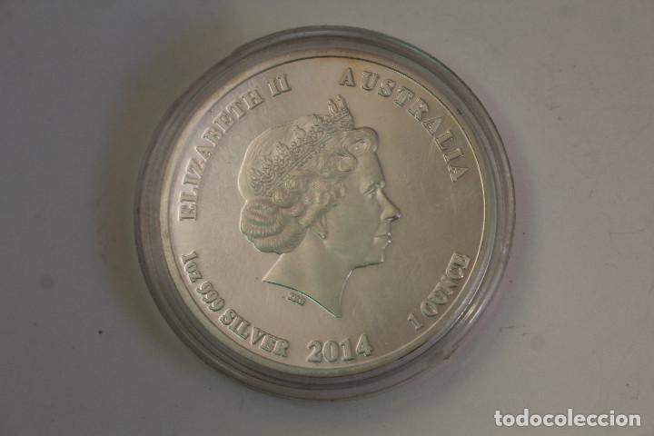 AUSTRALIA 1 DÓLAR, 2014 AÑO DEL CABALLO - MONEDA / 1OZ 9999 SILVER / ELIZABETH (Numismática - Extranjeras - Oceanía)
