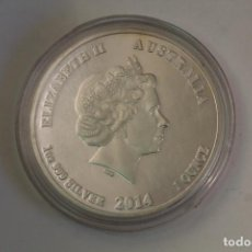 Monedas antiguas de Oceanía: AUSTRALIA 1 DÓLAR, 2014 AÑO DEL CABALLO - MONEDA / 1OZ 9999 SILVER / ELIZABETH. Lote 204119850