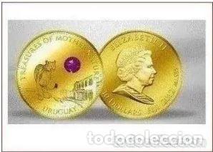 MONEDA DE 10 DÓLARES 2012 ORO CON AMATISTA - MONEDA DE ORO (Numismática - Extranjeras - Oceanía)