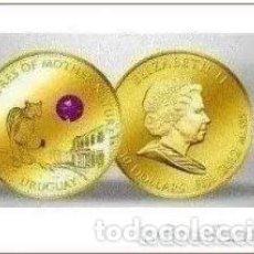 Monedas antiguas de Oceanía: MONEDA DE 10 DÓLARES 2012 ORO CON AMATISTA - MONEDA DE ORO. Lote 204282676