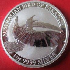 Monedas antiguas de Oceanía: AUSTRALIA ONZA DE PLATA PURA 2018 SIN CIRCULAR. AVE DEL PARAISO. Lote 204332312
