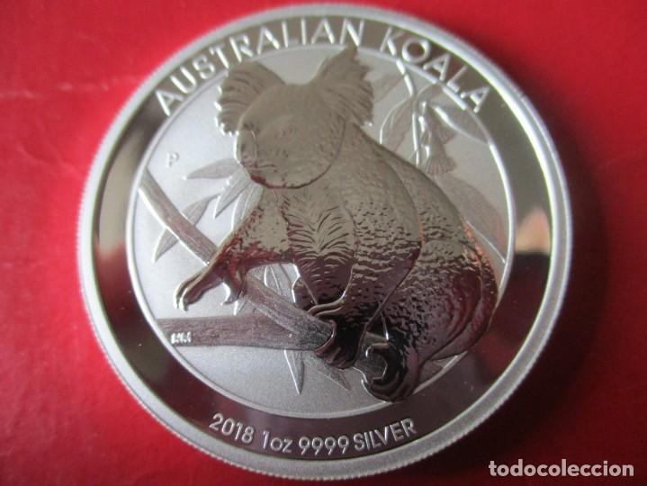 AUSTRALIA ONZA DE PLATA PURA 2018 SIN CIRCULAR. KOALA (Numismática - Extranjeras - Oceanía)