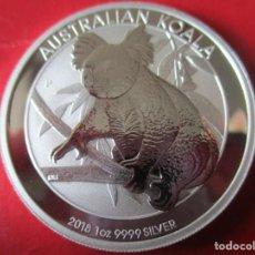Monedas antiguas de Oceanía: AUSTRALIA ONZA DE PLATA PURA 2018 SIN CIRCULAR. KOALA. Lote 204332775
